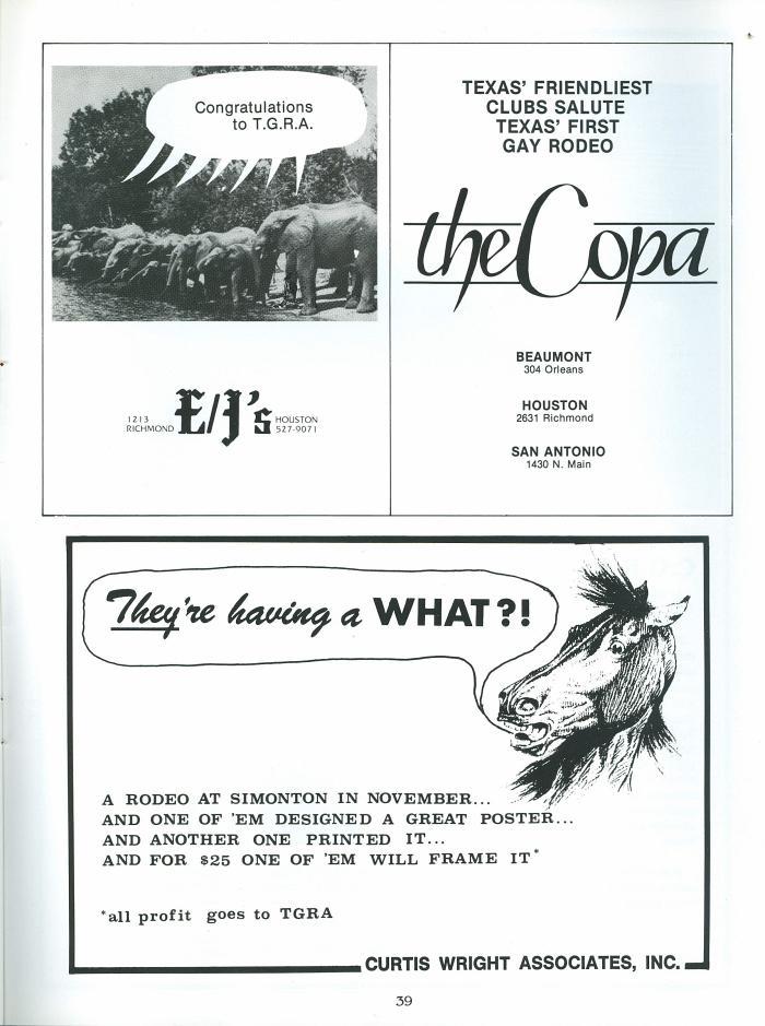 1984 Texas Gay Rodeo Program
